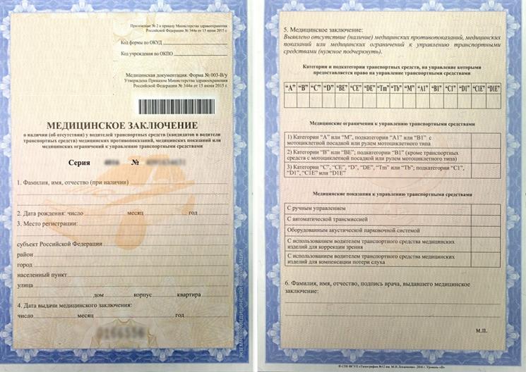Оформить справку для водительского удостоверения Москва Куркино